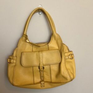 Cole Haan yellow leather bag